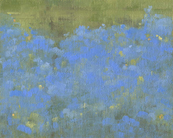 Creek With Blue Flax